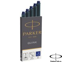 1950384 Синие картриджи Parker (Паркер) Quink Cartridges Blue 5шт