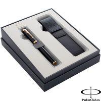 2122002 Подарочный набор Parker (Паркер) IM Core Black GT из перьевой ручки и чехла